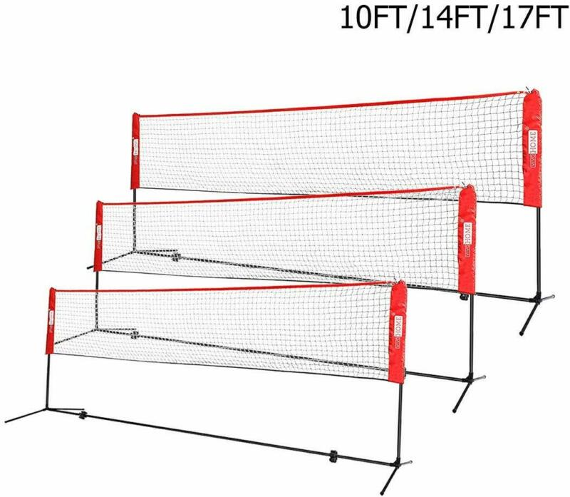 VIVOHOME 10FT-17FT Adjustable Badminton Beach Volleyball Tennis Net w/ Stand Set