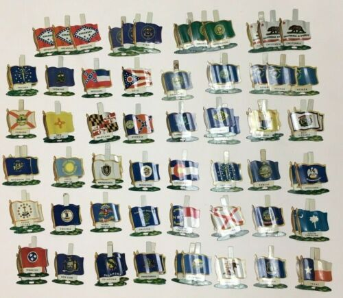 1959 NABISCO CEREAL PREMIUM UNITED STATES U.S. METAL FLAG WHOLESALE LOT 76 ITEMS