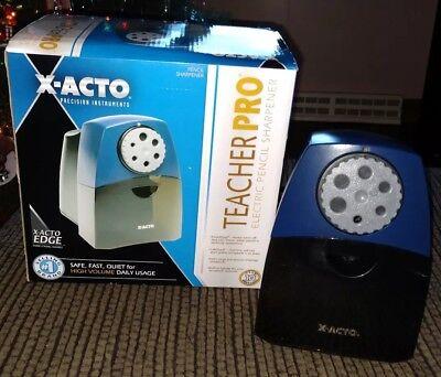 X-acto Teacher Pro Electric Pencil Sharpener High Volume Useage Original Box
