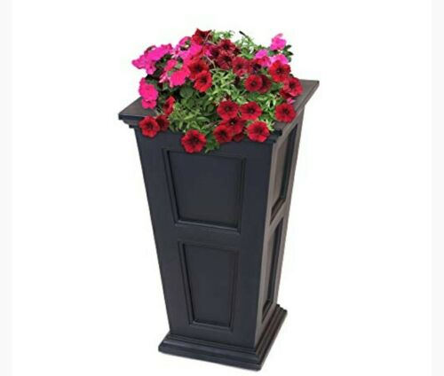 Fairfield Square Tall Planter - Color: White