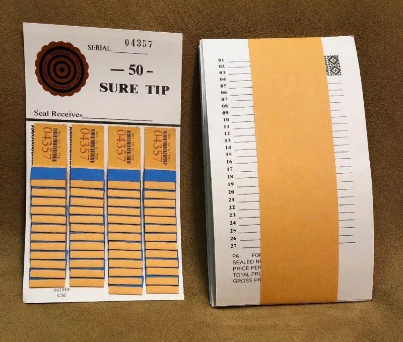 1 Dozen 50 SURE TIP BOARDS, Raffle Tickets, Jar Tickets, All Tip Boards, Raffles