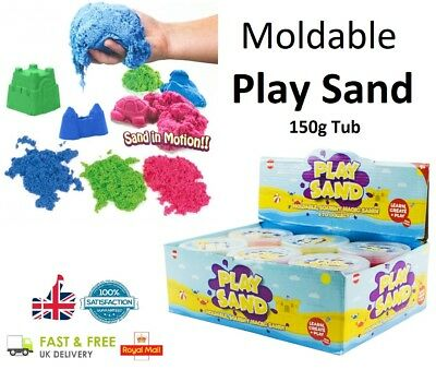 - 150g MAGIC SAND Tub Moudable Play Sand Dough Girls Boys Kids Toy Coloured Sand