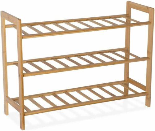 bamboo shoe rack organizer wooden bench storage