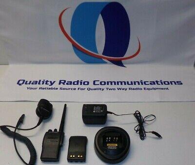 Motorola Ex500 136-174 Mhz Vhf Two Way Radio W Mic Charger Aah38kdc9aa3an