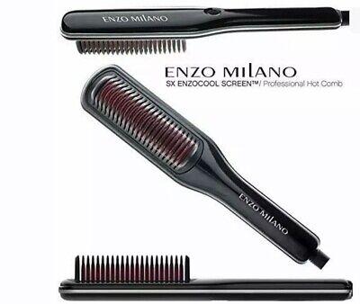 Enzo Milano HBRSX00- ENZOCOOL SCREEN Professional Hot Comb Brush (Black)