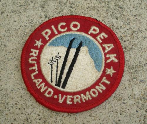 "PICO PEAK Rutland Vermont Ski Racing Vintage Ski Jacket Patch VT 3"""