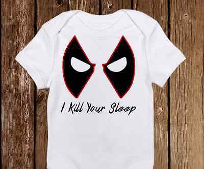 Funny Halloween I Kill Your Sleep Dead Pool Onesie unisex baby clothes - Pool Halloween