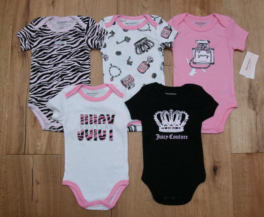 baby girl 5 piece bodysuit set pink