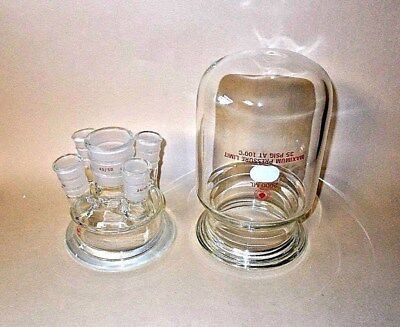 Ace Glass 6528-49 Reaction Head With 6423-20 Reaction Pressure Flask-new
