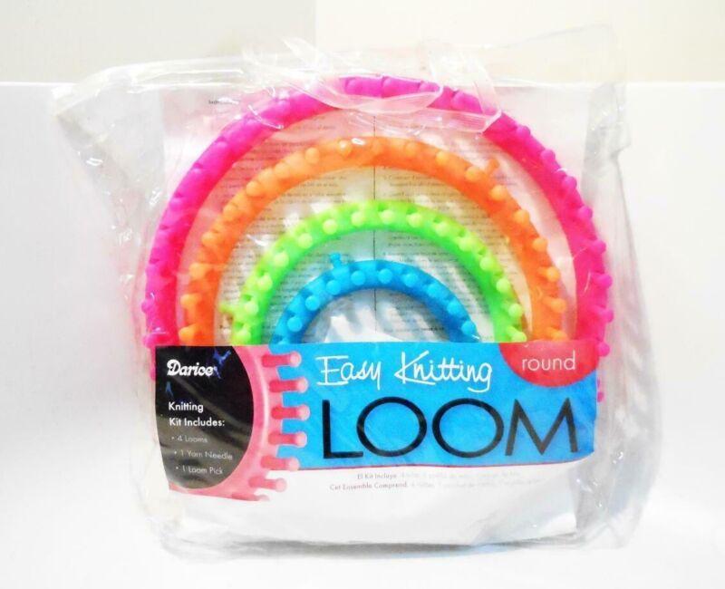 Darice Easy Knitting Round Kit (4 Looms /1 Yarn Needle/1 Loom Pick) #1171-58