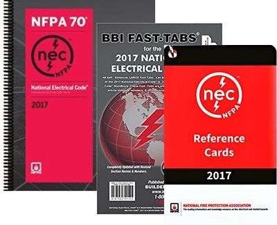 Used, NFPA 70 2017 : NEC Code, Spiralbound, Fast Tabs & Reference Cards, 2017 Editions for sale  Watkinsville