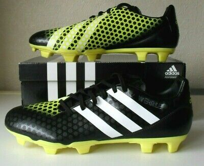 ADIDAS INCURZA Firm Ground Rugby Boots UK 12 Black/White/Yellow in Box Ground Rugby Boots
