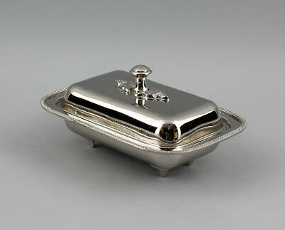 9977139 Silver Colored Butter Dish Nickel Plated 19x14cm
