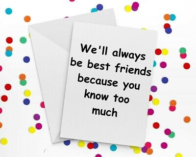 Funny Card Idea Best Friend Birthday Collegue Thank you Greeting Card Idea (Best Friend Card Ideas)