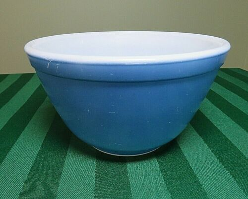 Pyrex Primary Nesting Bowl Blue Mixing 1-1/2 Pint  401 USA Small HG1