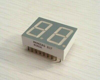 2 Pcs Qt Man6540 7-segment Green Led Display 1 X 34 Common Cathode