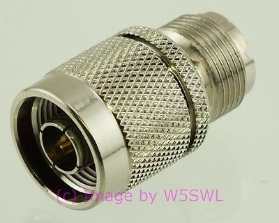 Coax Adapter N Male to UHF PL-259 Female - by W5SWL ®