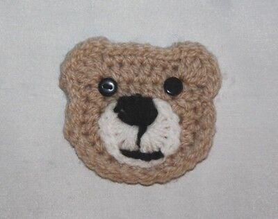 Handmade Crochet  large teddy bear applique