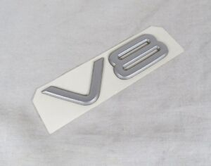 99-04 JEEP GRAND CHEROKEE V8 EMBLEM BACK HATCH NEW OEM SILVER BADGE symbol sign