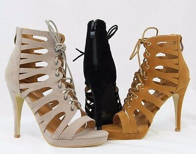 Women Fashion Dresses High Heels Strappy Sandals Shoes All New Design Faux (Fashion Designer High Heels)