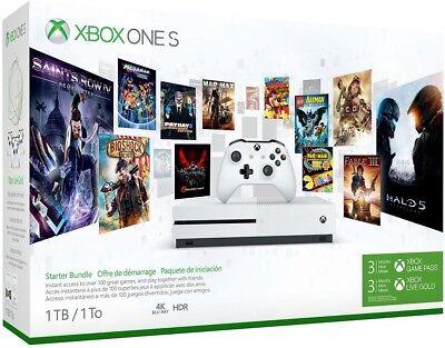 Xbox One S 1Tb Console   Starter Bundle
