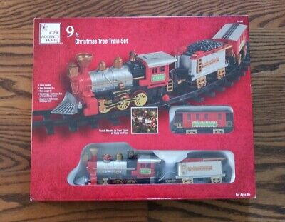 Christmas Tree Train Lighted Sound & Animated Set Mount To Tree or Run On Floor
