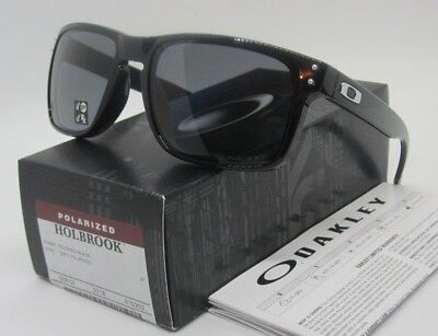 Oakley Polished Black Grey Polarized Holbrook Oo9102 02 Sunglasses  New In Box