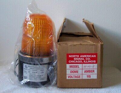 North American Signal Co. Model Xe-mi-p 115v Hazardous Location Amber Strobe