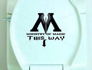 Pegatina-de-vinilo-De-Asiento-De-Inodoro-Ministerio-de-magia-de-esta-manera-Harry-Potter