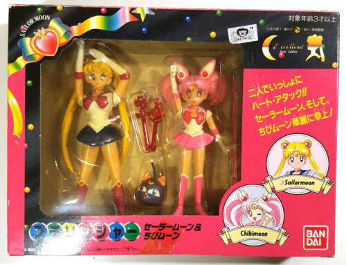 Sailor Moon and Chibimoon Petit Soldier SET Mini Figure Doll Toy in BOX 1994