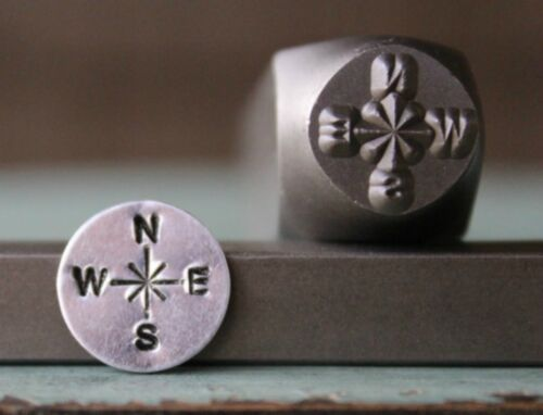 SUPPLY GUY 10mm Compass Metal Punch Design Stamp SGCH-115