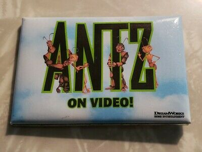 Vintage DISNEY 1998 ANTZ MOVIE Video Button Pin Promo Collectible Pinback