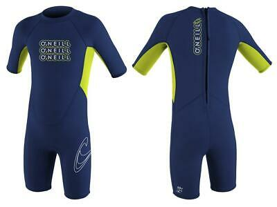 O'Neill Reactor Spring Boys Wetsuit, Navy/Lime | Ages 2