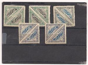 LIBERIA-TRIANGLE-REGISTERED-STAMPS-1919-M-NH