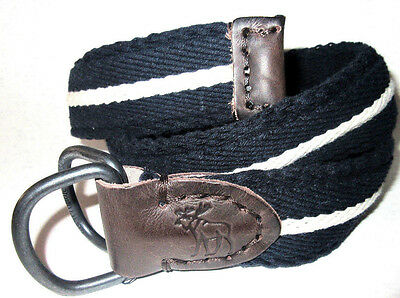 MENS ABERCROMBIE & FITCH NAVY BLUE BELT SIZE 28