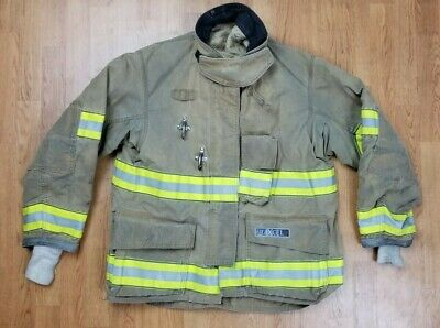 Globe G-xcel Firefighter Turnout Bunker Coat W Drd 46 X 33 Mfg. 2014.