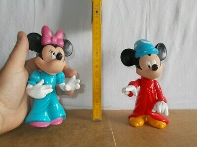 RARE 2 anciennes figurines vintage McDONALD'S disney - MICKEY MINNIE 16cm - 90's