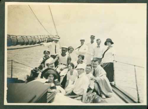 1912 party time  On the Yacht- Hawaii, outside Honolulu Harbor, Hawaii Photo #3