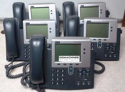 Lot Of 5 Cisco Ip Phone 7940 Series 68-1735-06 Rev B0 Tested Free Shipping