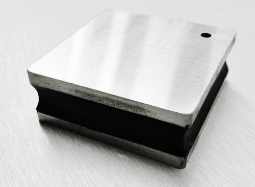 "Steel Bench Block Flat 1"" Smooth Anvil Grooved Sides Jewelry Tool A1 Premium"