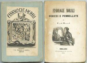 FISIOLOGIE-MORALI-SCHIZZI-E-PENNELLATE-di-P-O-B-I-Ed-Borroni-e-Scotti-1852