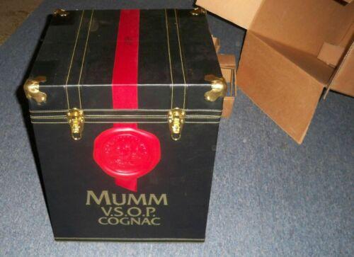 New MUMM VSOP V.S.O.P Cognac French Brandy Trunk Case Storage Bin Box