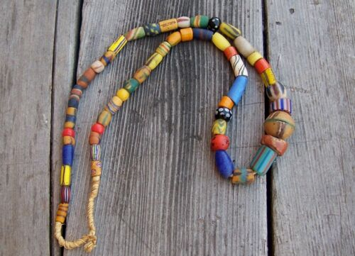 Venetian African Trade Beads Assorted Strand