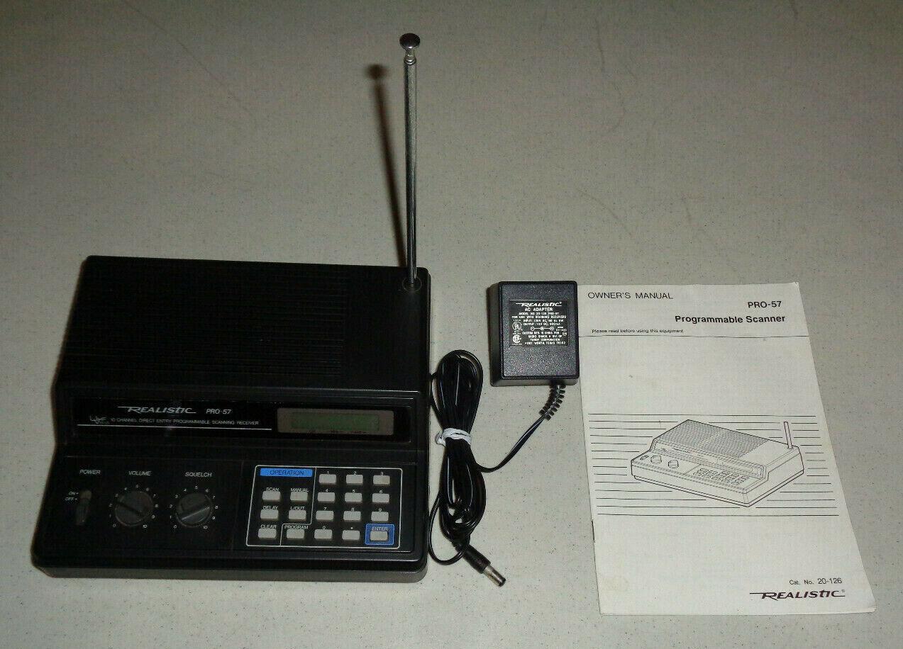~Realistic Pro 57 Police Scanner Radio Shack -Model 20-126-
