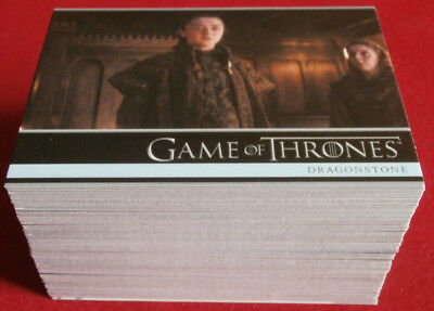 GAME OF THRONES - Season 7 - Complete Base Set - 81 cards - Rittenhouse 2018