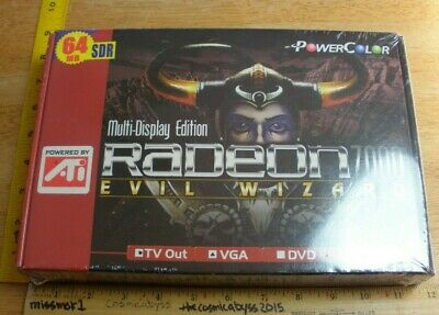 Radeon 7000 Evil Wizard 64MB SDR ATI Graphics/Video Card MIB sealed for sale  Shipping to India