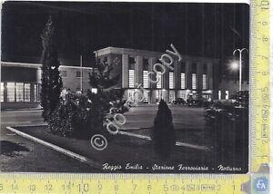 Cartolina - Postcard - Reggio Emilia - Stazione Ferroviaria - By night - 1954 - Italia - L'oggetto può essere restituito - Italia