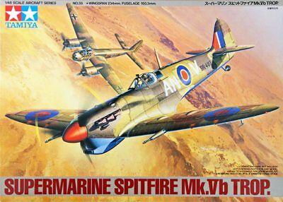TAMIYA 1:48 KIT AEREO DA MONTARE SUPERMARINE SPITFIRE MK. VB TROP. ART 61035