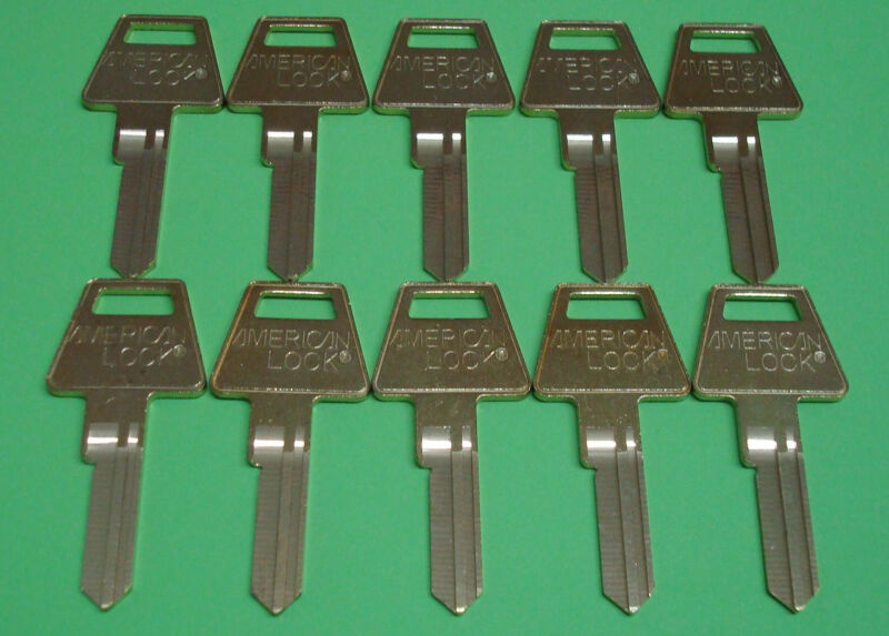 🔑 USA American Lock Original 6 PIN KEY BLANK 10 Count lot (10 UNCUT KEY BLANKS)