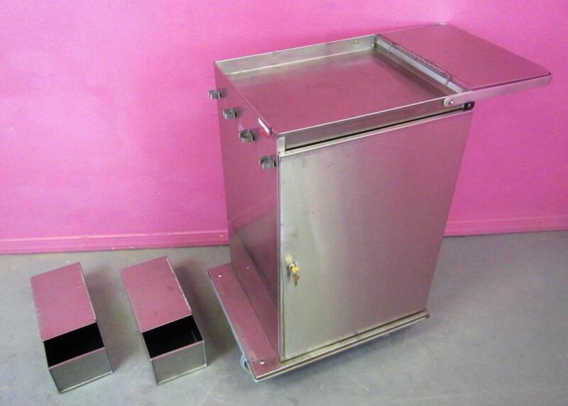Royce Rolls MP2436 Stainless Steel Janitorial Cleaning Cart Microfiber w/ Lock